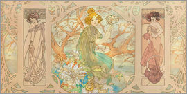 Alfons Mucha - Panel Graphic Collage