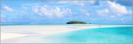 Matteo Colombo - Panoramic of tropical island in the pacific ocean, Cook Islands
