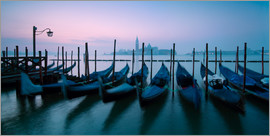 Matteo Colombo - Panoramic of gondolas in front of San Giorgio church, Venice, Italy