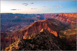 Peter Wey - Sunset scenery from Grand Canyon South Rim, Grand Canyon National Park, USA