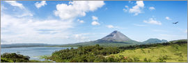 Matteo Colombo - Panoramic of Arenal volcano and lake, Costa Rica