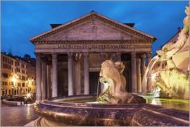 Circumnavigation - Pantheon at twilight, Rome, Italy