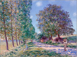 Alfred Sisley - Poplar Avenue at Moret on the Loing