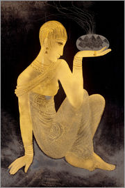 Jean Dunand - Perfume girl with a censer