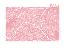 44spaces - PARIS MAP dirty rose