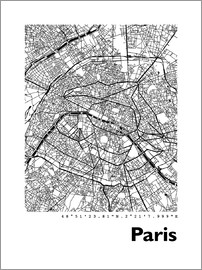 44spaces - PARIS CITY MAP HF b/w