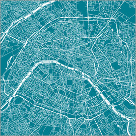 44spaces - PARIS MAP Q teal