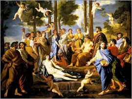 Nicolas Poussin - Parnassus, Apollo and the muses