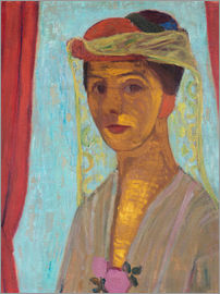 Paula Modersohn-Becker - Self-portrait with a hat and veil
