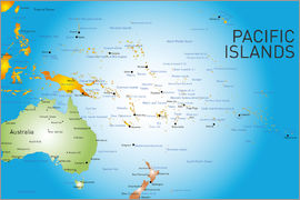 Pacific Islands - Map