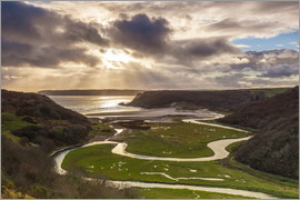 Billy Stock - Pennard Pill, overlooking Three Cliffs Bay, Gower, Wales, United Kingdom, Europe