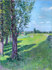Gustave Caillebotte - Petit Gennevilliers from the 'Aumone Graben'