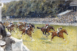 Gilbert Holiday - Horse Racing at Goodwood 1929