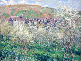 Claude Monet - Plum Trees in Blossom at Vetheuil