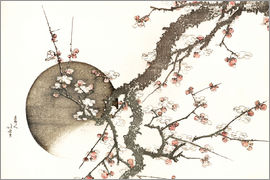 Katsushika Hokusai - Plum Blossom and the Moon from the book Mount Fuji in Spring (Haru no Fuji)