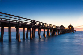 Circumnavigation - Pier of Naples at sunset, Florida