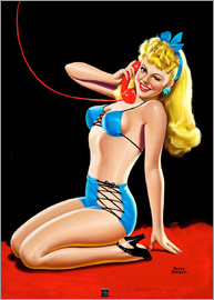 Peter Driben - Pin Up in Blue Bikini