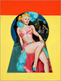 Peter Driben - Pin Up Sitting in the Keyhole
