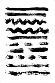 Brush strokes black and white