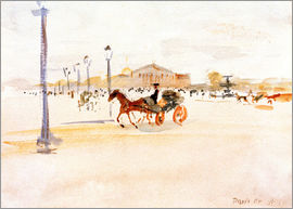 August Macke - Place de la Concorde in Paris