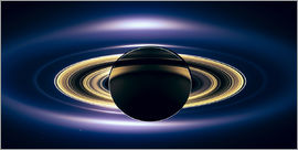Saturn Eclipse (seen by Cassini spacecraft)