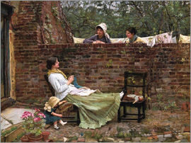 John William Waterhouse - Plauderei (Gossip). Um 1885