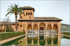 Pool in the Alhambra garden, Granada