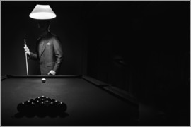 Richard Wear - Mystery Pool Player Behind Rack Of Billiard Balls
