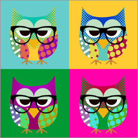 GreenNest - Pop Art Owls