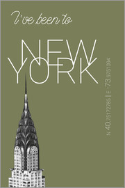 campus graphics - Popart New York Chrysler Building I have been to Color: calliste green