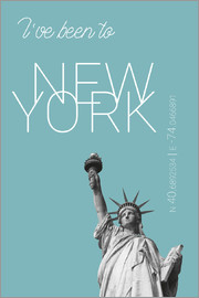 campus graphics - Popart New York Statue of Liberty I have been to Color: Light blue