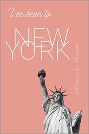 campus graphics - Popart New York Statue of Liberty I have been to Color: blooming dahlia