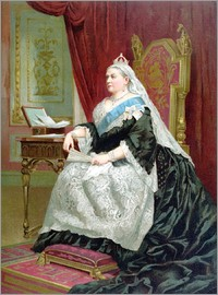 English School - Portrait of Queen Victoria on her Golden Jubilee