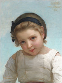 Emile Munier - Portrait of a Young Girl