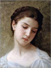 William Adolphe Bouguereau - Portrait of a young girl