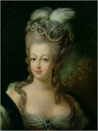 French School - Portrait of Marie-Antoinette de Habsbourg-Lorraine