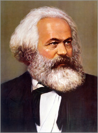 Chinese School - Portrait of Karl Marx