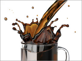 Pouring coffee, artwork
