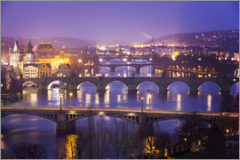 Frank Fischbach - Prag with Vltava at dusk