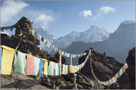 Christian Kober - Prayer flags, view from Gokyo Ri
