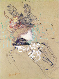 Henri de Toulouse-Lautrec - Profile of a woman