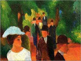 August Macke - Promenade (with white girl)