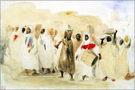 Eugene Delacroix - Procession of Musicians in Tangier