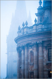 John Alexander - Radcliffe Camera and St. Mary's Church in the mist, Oxford, Oxfordshire, England, United Kingdom, Eu