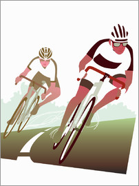 Ikon Images - Cyclist in a turn