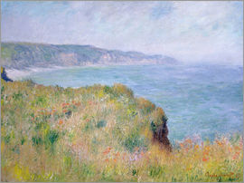 Claude Monet - Edge of the Cliff, Pourville