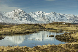 John Potter - Rannoch Moor and Black Mount in early spring, Scotland, United Kingdom, Europe