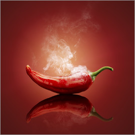 Johan Swanepoel - Red Hot smoking Chili still life