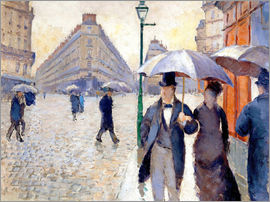 Gustave Caillebotte - Rainy day in Paris
