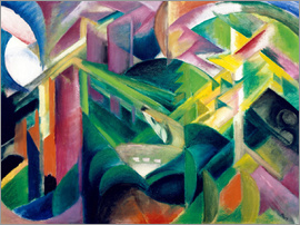 Franz Marc - Deer in the Monastery Garden